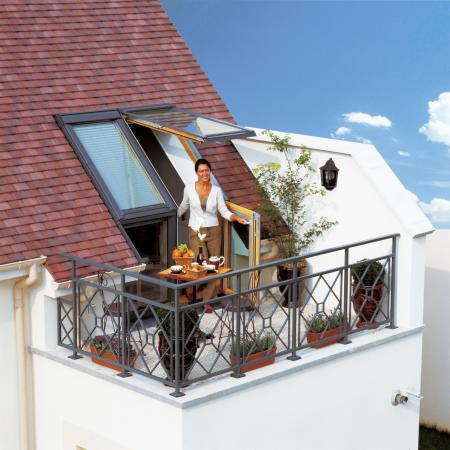 Dachfenster velux cabrio  Velux Cabrio Dachbalkon. Billiger online kaufen. Seriös und ...